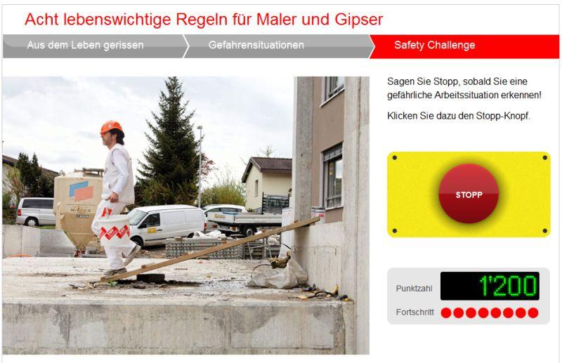 suva Onlinekurs - Arbeitssicherheit für Maler und Gipser
