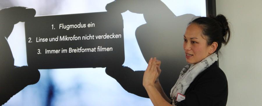 Der Einsatz von Videoclips in der Mitarbeiterschulung war das Thema am Anlass von rissip und der Klubschule Migros Luzern