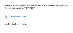 Erpresser-Mail? Unbekannter Absender und Mailanhang mit PDF: Ein Grund zur Vorsicht.