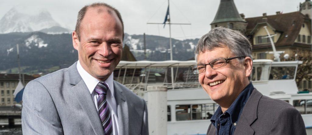 Neue Geschäftsführung bei rissip. Armin Riebli übernimmt von Markus Schärli.