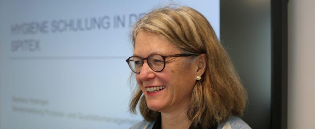 Barbara Hedinger, Bereichsleiterin Prozess- und Qualitätsmanagement der Spitex Stadt Luzern zum Thema Hygienerichtlinien